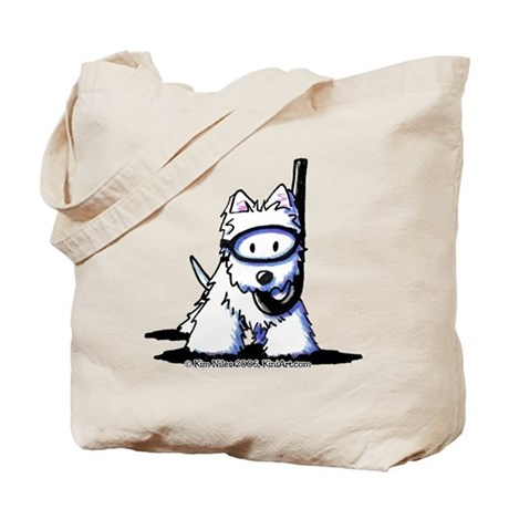 Scuba Westie Tote Bag