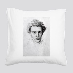 soren kierkegaard Square Canvas Pillow