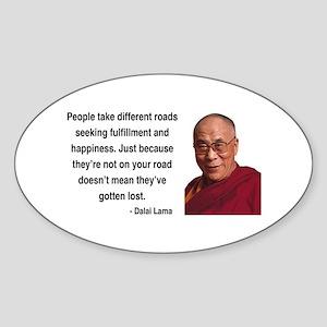 Dalai Lama 2 Oval Sticker