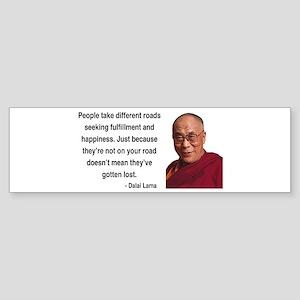 Dalai Lama 2 Bumper Sticker