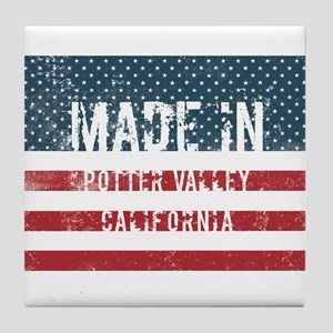 Made in Potter Valley, California Tile Coaster
