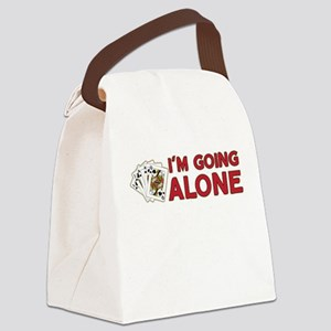 Euchre - Going Alone Canvas Lunch Bag