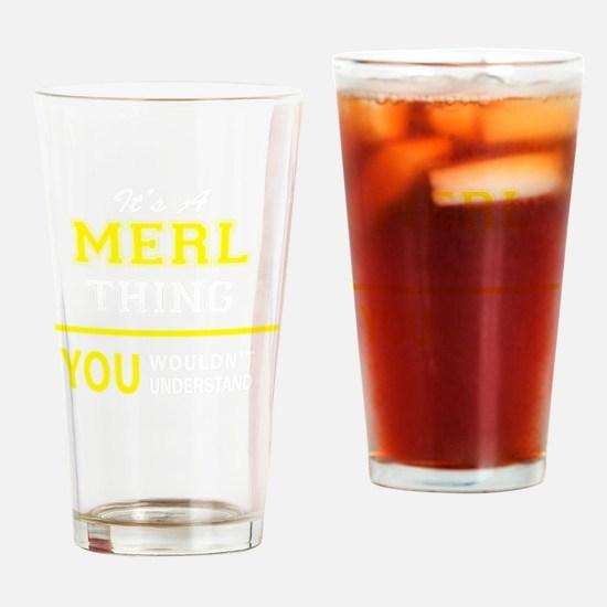 Cute Merl Drinking Glass