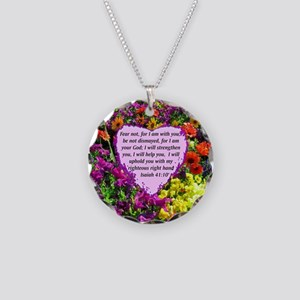 ISAIAH 41:10 Necklace Circle Charm