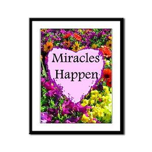 MIRACLES HAPPEN Framed Panel Print