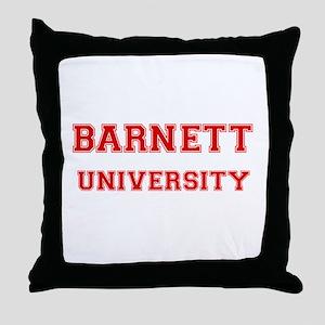 BARNETT UNIVERSITY Throw Pillow