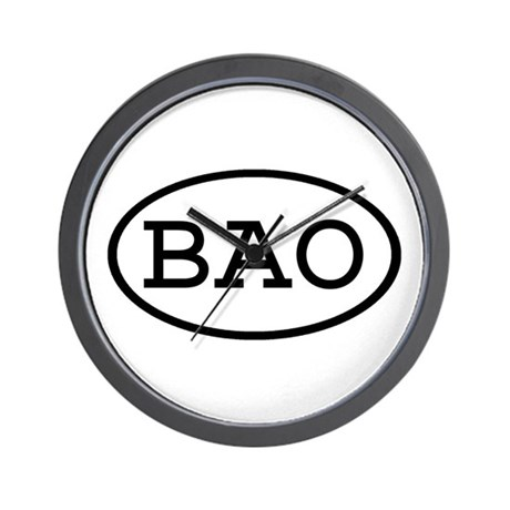 BAO Oval Wall Clock