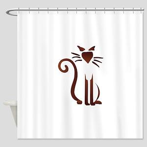 Silhouette Sam Shower Curtain