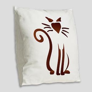 Silhouette Sam Burlap Throw Pillow