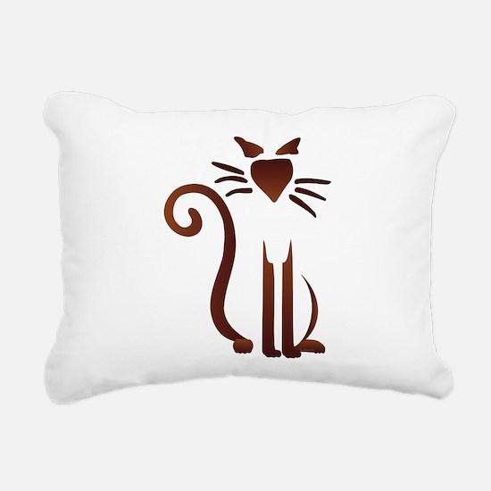 Silhouette Sam Rectangular Canvas Pillow
