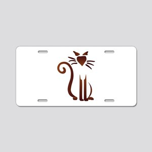 Silhouette Sam Aluminum License Plate