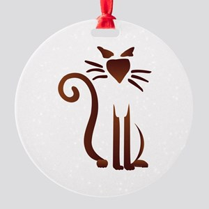 Silhouette Sam Round Ornament