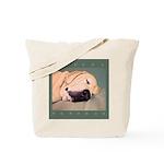 Yellow Labrador Dog Sleeps Tote Bag