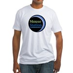 MouseStation logo Fitted T-Shirt