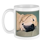 Yellow Labrador Dog Sleeps Mug