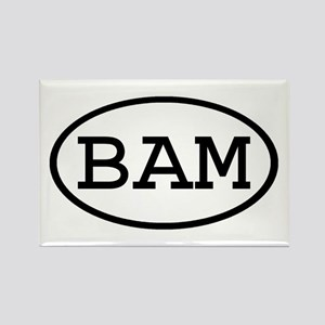 BAM Oval Rectangle Magnet