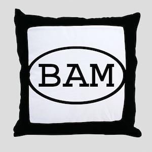BAM Oval Throw Pillow