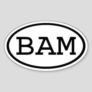 BAM Oval Oval Sticker