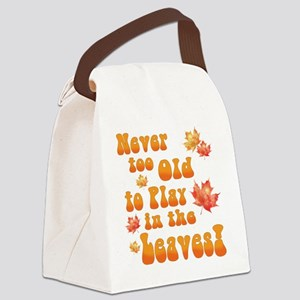 Playing in Leaves Canvas Lunch Bag