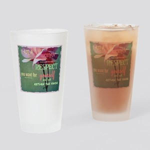 Inspire Respect Drinking Glass