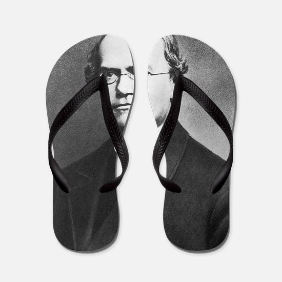 gregor mendel Flip Flops