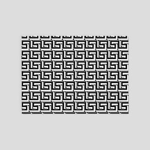 Elegant Greek Key Black Pattern 5'x7'Area Rug