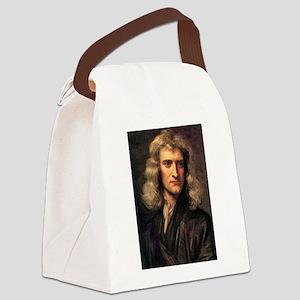 sir isaac newton Canvas Lunch Bag