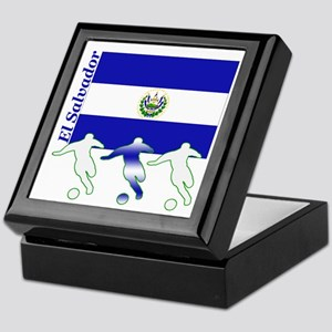 El Salvador Soccer Keepsake Box