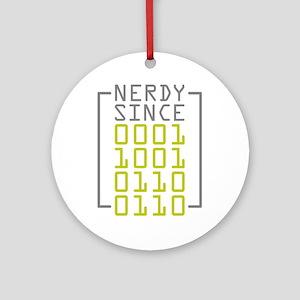 Nerdy Since 1966 Ornament (Round)