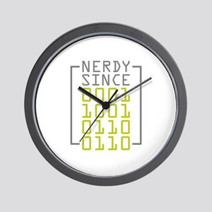 Nerdy Since 1966 Wall Clock