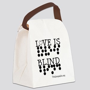 Love Is Blind Canvas Lunch Bag