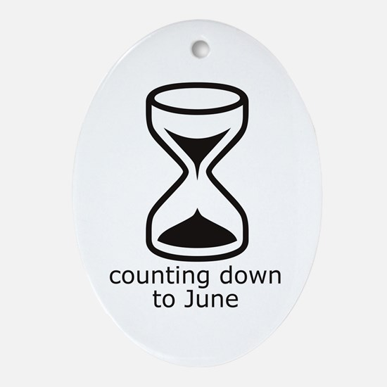 counting down June due date Oval Ornament
