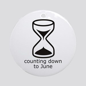 counting down June due date Round Ornament
