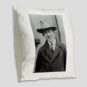 werner heisenberg Burlap Throw Pillow