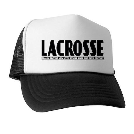 Lacrosse Beating People Trucker Hat