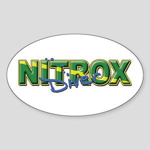 Dive Nitrox Oval Sticker