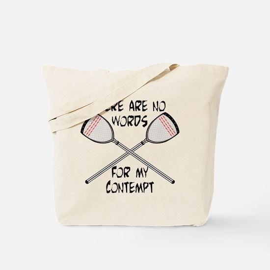 Lacrosse Contempt Tote Bag