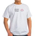 Christmas Flamingos Light T-Shirt