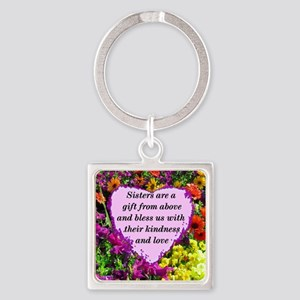 SISTER BLESSING Square Keychain