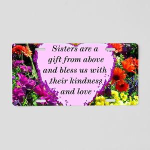 SISTER BLESSING Aluminum License Plate