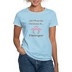 Christmas Flamingos Women's Light T-Shirt