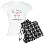 Christmas Flamingos Women's Light Pajamas