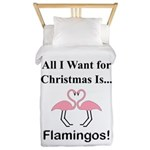 Christmas Flamingos Twin Duvet
