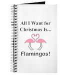 Christmas Flamingos Journal