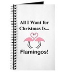Christmas Flamingos Journal