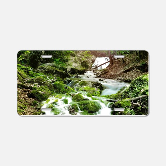 Woodland Stream Aluminum License Plate