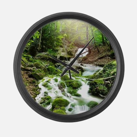 Woodland Stream Large Wall Clock