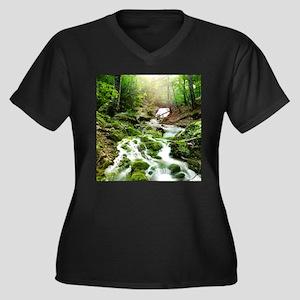 Woodland Stream Plus Size T-Shirt