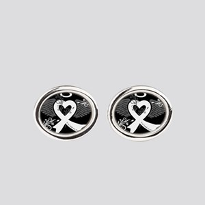 I've Held an Angel (Lung Cancer) Oval Cufflinks