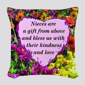 NIECE BLESSING Woven Throw Pillow
